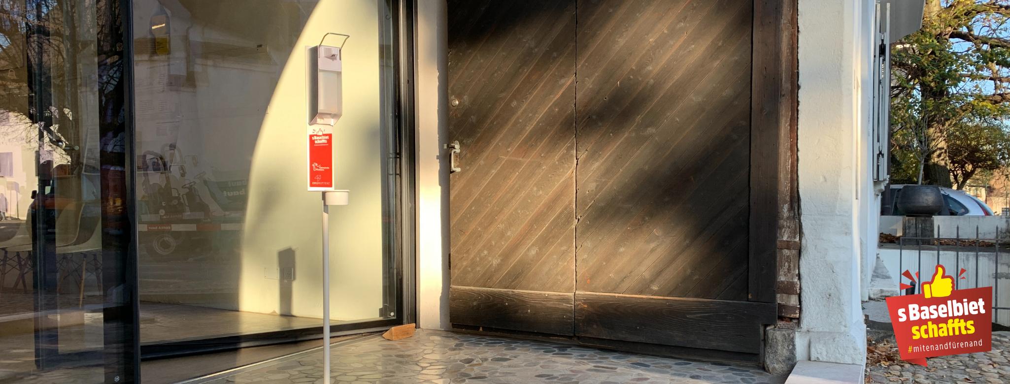 Desinfektionsmittel Dispenser KMU Muttenz